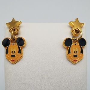 DIsney X AAi Mickey VTG Star Dangle Earrings